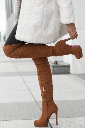 Camel Ψηλές Μπότες Over The Knee
