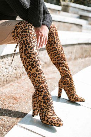 Μπότες Over the Knee με Τακούνι
