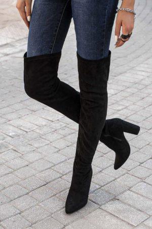 Ψηλές Mπότες Over the Knee Μαύρες