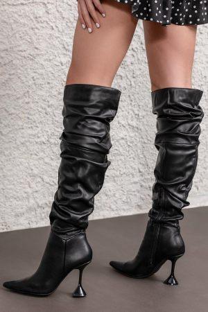 Ψηλές Μπότες πάνω από το γόνατο με Σούρα