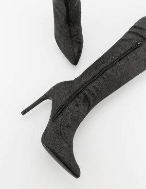 Μπότες over the knee με glitter