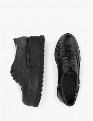 Μαύρα Oxford Γυναικεία Παπούτσια
