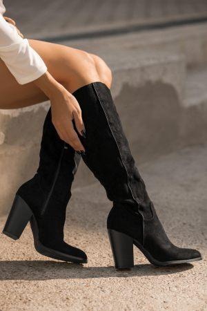 Μπότες με Χοντρό Τακούνι